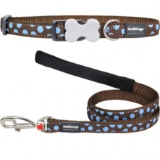 Large -Brown Spots Collar & Lead Set