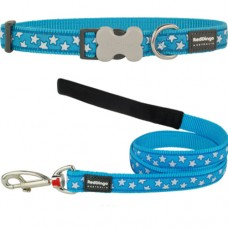 Extra Small - Turquoise Stars Collar & Lead Set