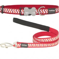 Small - Ziggy Red Collar & Lead Set (reflective)