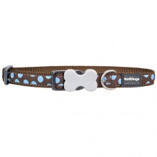 Spots Collar - Blue/Brown