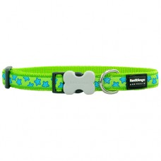 Stars Collar - Blue/Lime Green