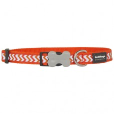 Ziggy Collar - Orange (Reflective)