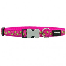 Stars Collar - Lime/Hot Pink