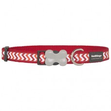 Ziggy Collar - Red (Reflective)