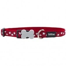 Stars Collar - White/Red