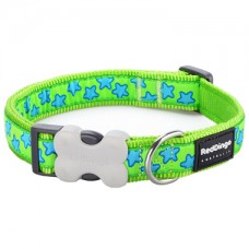 Extra Small Collar - Lime Green Stars